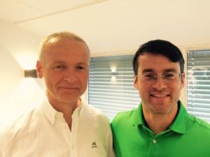 Fra v: President Erik Lindholm og visepresident Christian Ibenfeldt har en vanskelig jobb foran seg. Vi krysser fingrene for fremgang de neste årene.