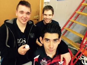 Raymond, Stig og Benjamin i godt slag i oktober 2015