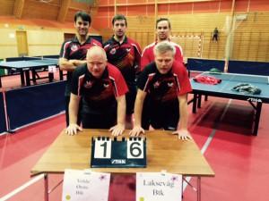 Christian, Tobias, Jimmy, Anders og Peter, til topps i Stigaligaen 2015-2016 sesongen!