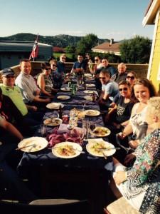 Mye god mat og drikke spanderte klubben på medlemmene
