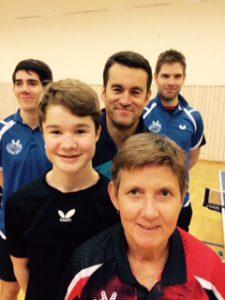 Benjamin, Christian, Stig, Petter og Gina var Laksevågs lag i Skjoldar